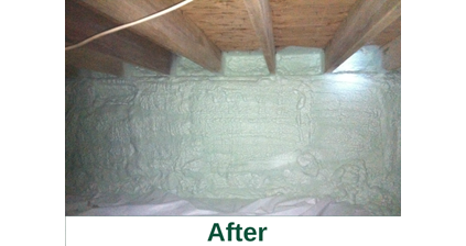 Spray Foam Insulation in Fayetteville, NY after image from Zerodraft