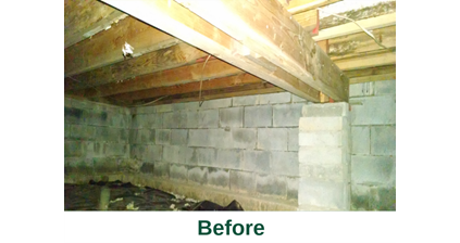 Spray Foam Insulation in Fayetteville, NY before image from Zerodraft