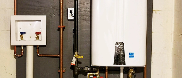 Tankless Water heater header image from Zerodraft